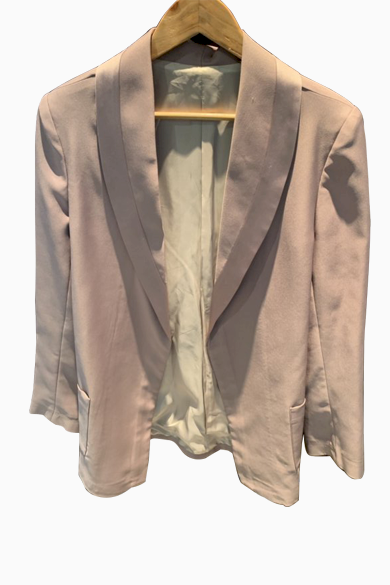 Snazzy Marketplace; Veste en satin rose pale ;