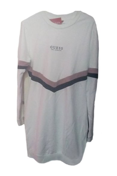Snazzy Marketplace; Guess sweatshirt mini dress white;